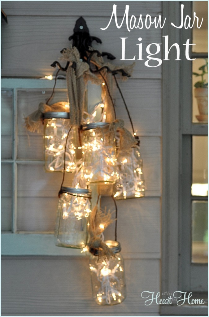 DIY Mason Jar Lights...these are the BEST Homemade Christmas Decorations & Craft Ideas!