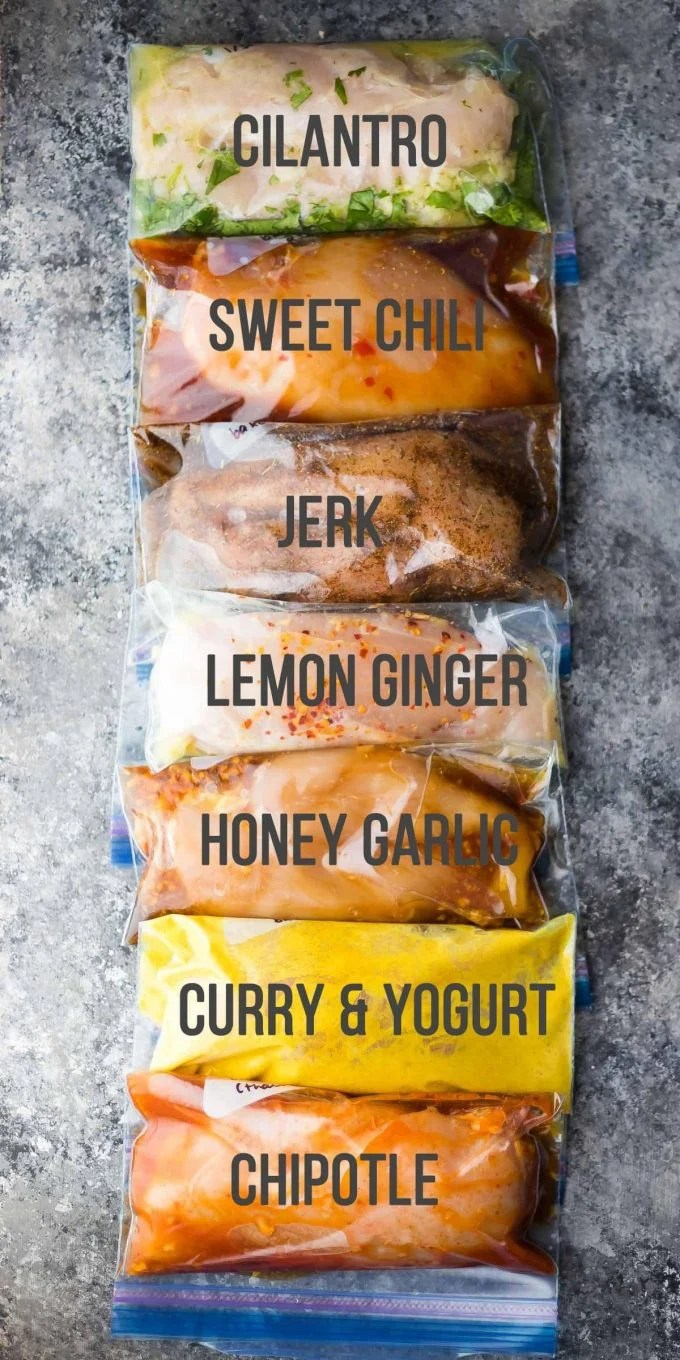7 Chicken Marinade Recipes you can freeze...these are the BEST Freezer Meal Ideas!