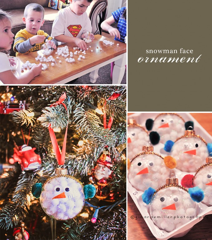 Easy Snowman Face Ornaments...these are the BEST Homemade Christmas Ornament Ideas!