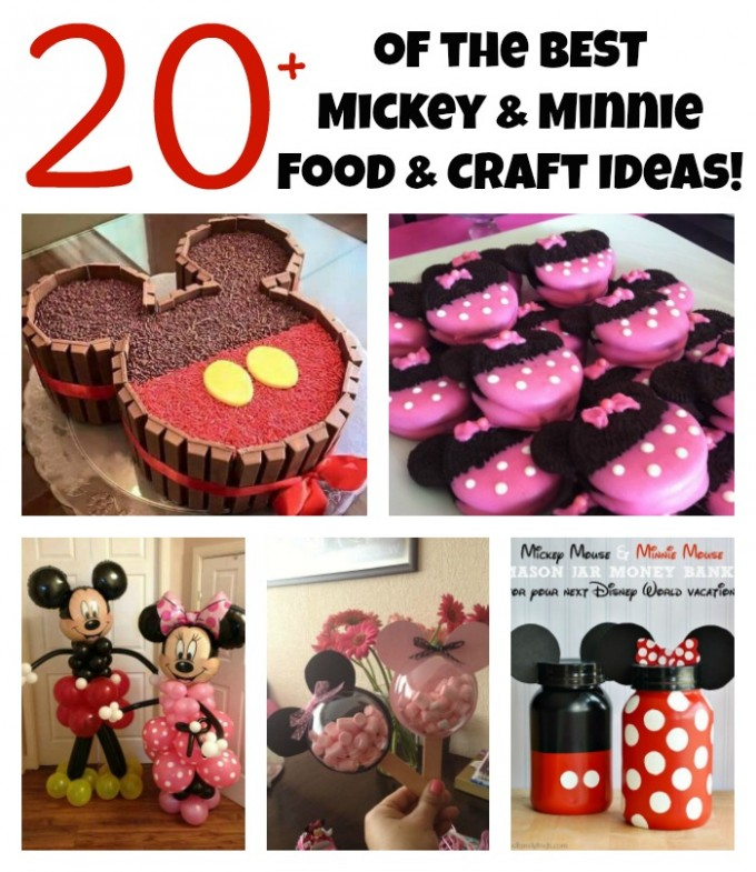 The BEST Minnie and Mickey Mouse Food and Craft Ideas!