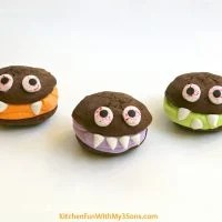 Halloween Monster Sandwich Cookies