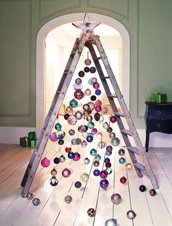 Who needs a tree alternative christmas tree ideas for Non traditional christmas tree ideas