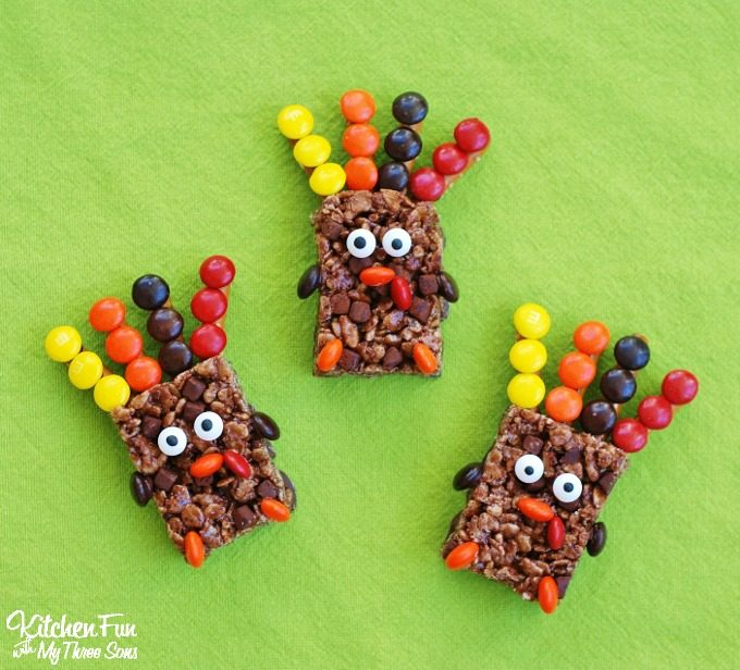 Thanksgiving Rice Krispies Turkey Treats