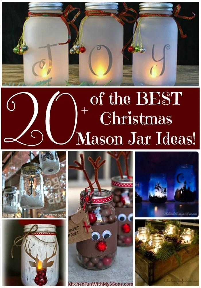 The BEST Christmas Mason Jar Ideas Kitchen Fun With My