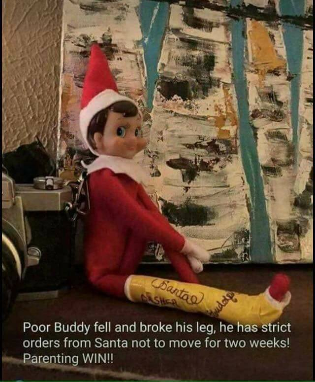 Broken Leg Elf on the Shelf