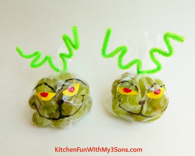 Grinch Grape Snack Bags