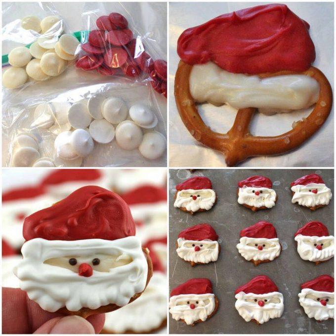 Santa Pretzel Treats for Christmas!