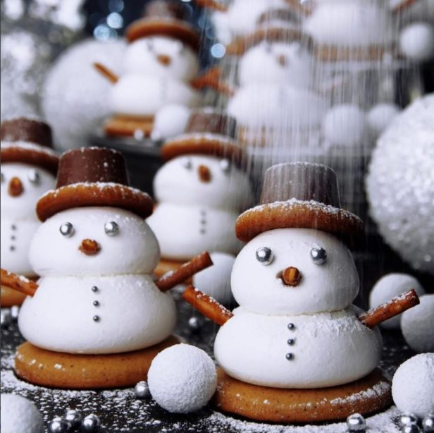 Gingerbread Marshmallow Snowman Cookies
