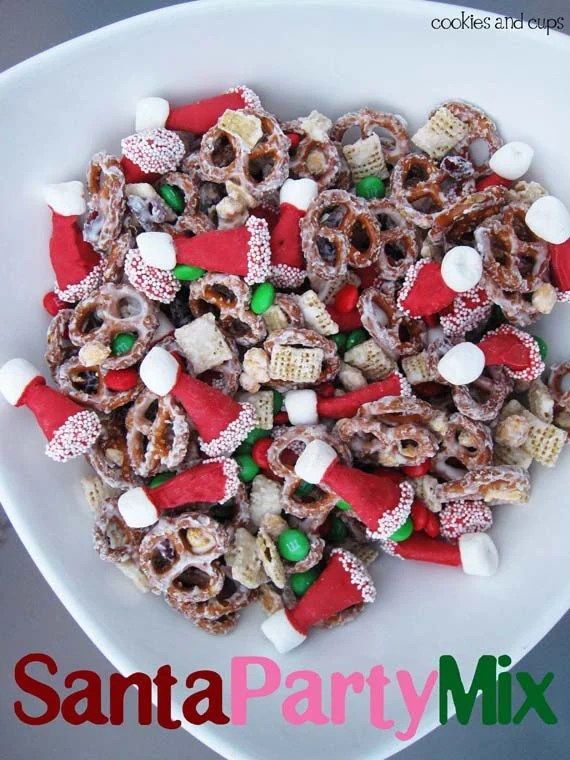 Santa Party Chex Mix...these are the BEST Christmas Treats!