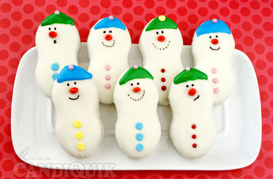 Snowman Nutter Butter Cookies...these are the BEST Christmas Treats!