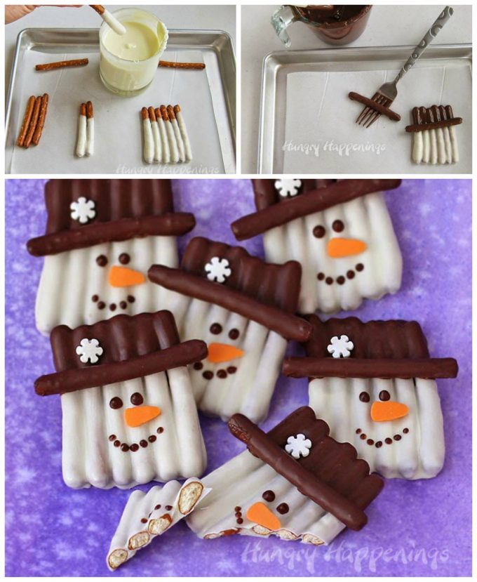 Snowman Pretzel Treats...these are the BEST Christmas Treats!