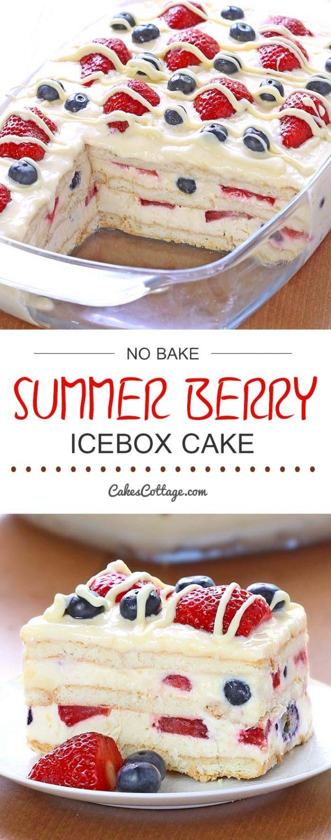 No-Bake Summer Berry Ice Box