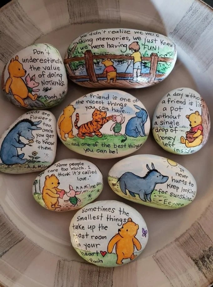 Winnie The Pooh Rock Art