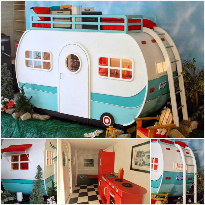 Camper Playhouse Bunk Bed...these are the BEST Bunk Bed Ideas!