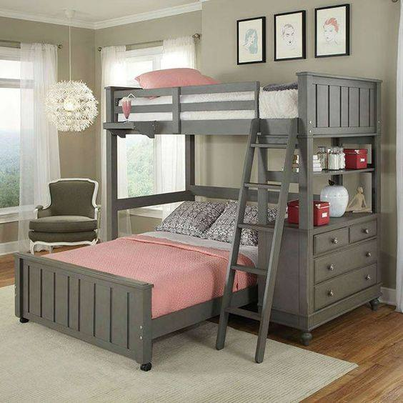 Twin Loft Bed...these are the BEST Bunk Bed Ideas!