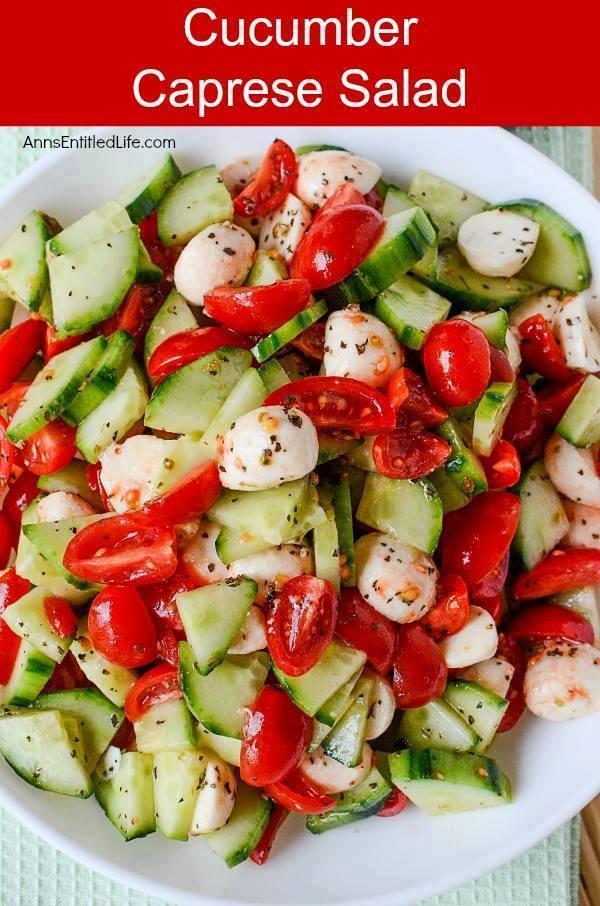 Cucumber Crapese Salad