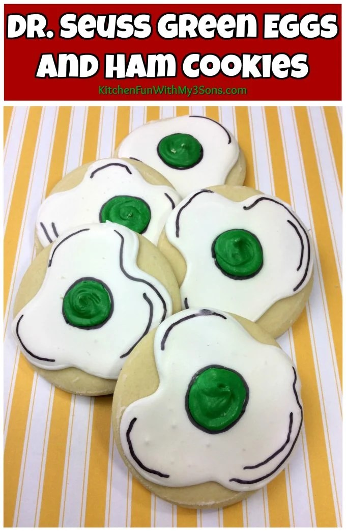 Green Eggs and Ham Dr. Seuss Cookies