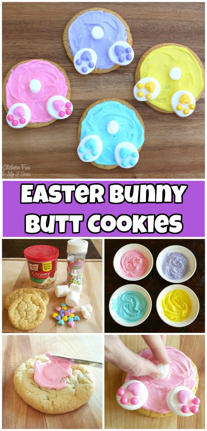 Easy Easter Bunny Butt Cookies