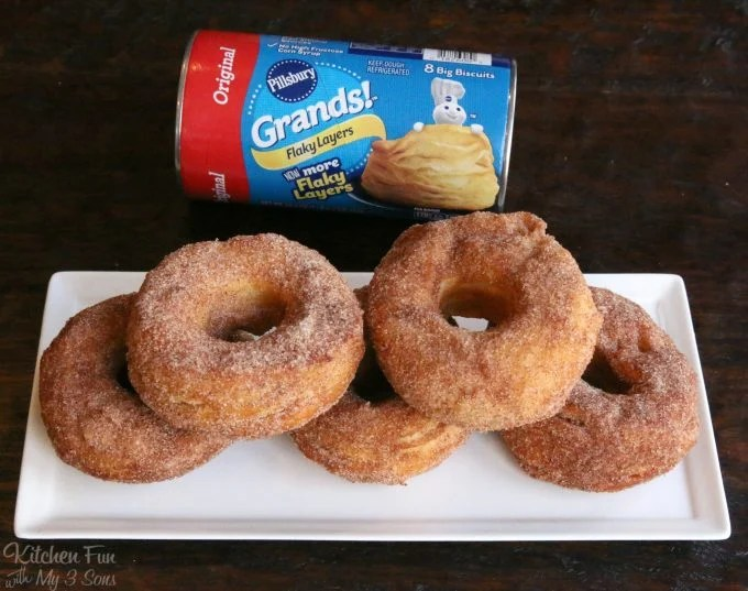 Easy Canned Biscuit Donuts Kitchen Fun With My 3 Sons