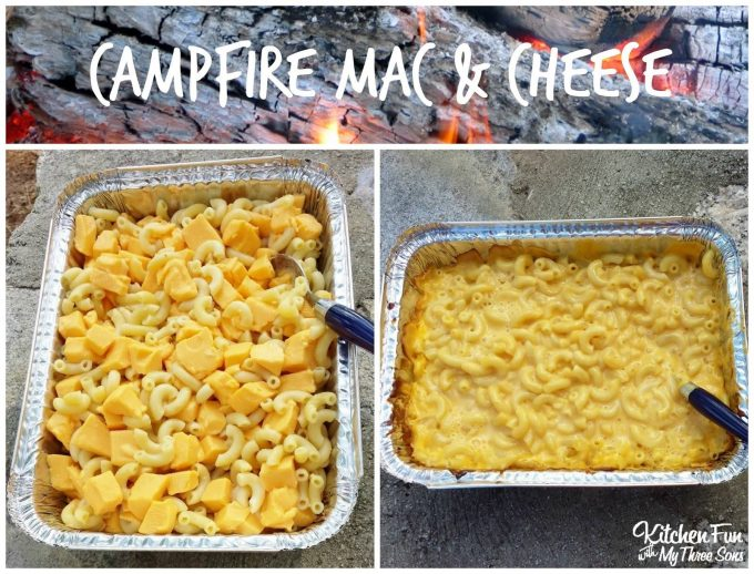 Campfire Mac & Cheese....these are the BEST Camping Recipes!
