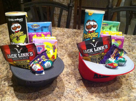 Easter Hat Baskets for Teens...these are the BEST Easter Basket ideas!