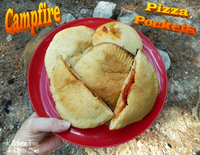 Campfire Pizza Pockets...these are the BEST Camping Recipes!