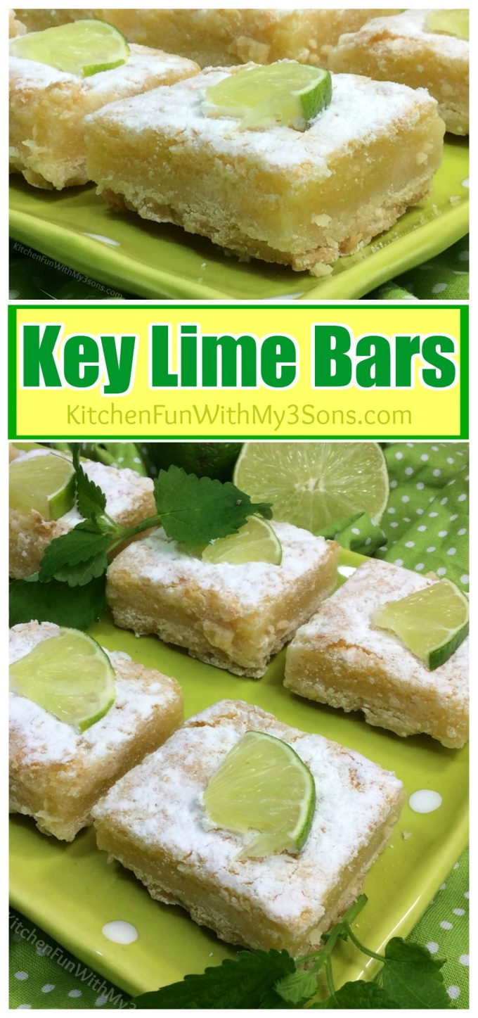 These easy Key Lime Bars are so delicious and the perfect dessert for Summer!