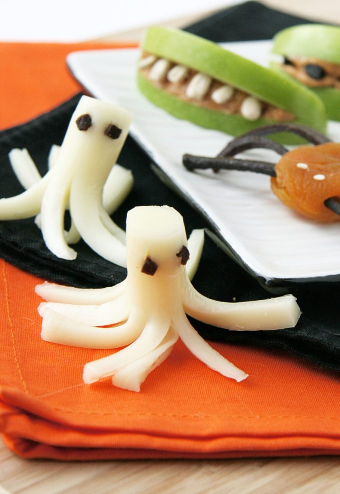 Halloween Cheese Stick Ghosts Snacks