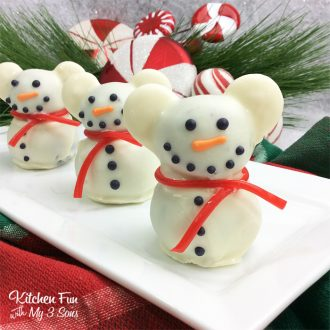 Mickey Mouse Snowman Truffles