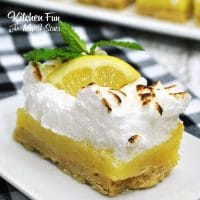 Boozy Lemon Bars