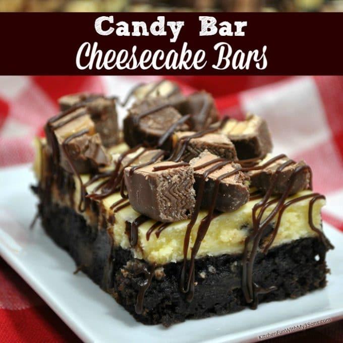 Candy Bar Cheesecake Bars