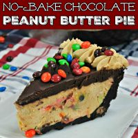 M&M Peanut Butter No Bake Pie