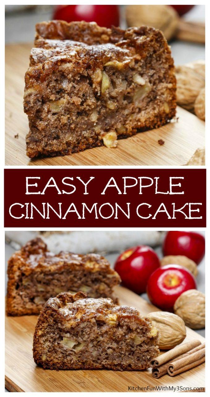 Easy Cinnamon Apple Cake