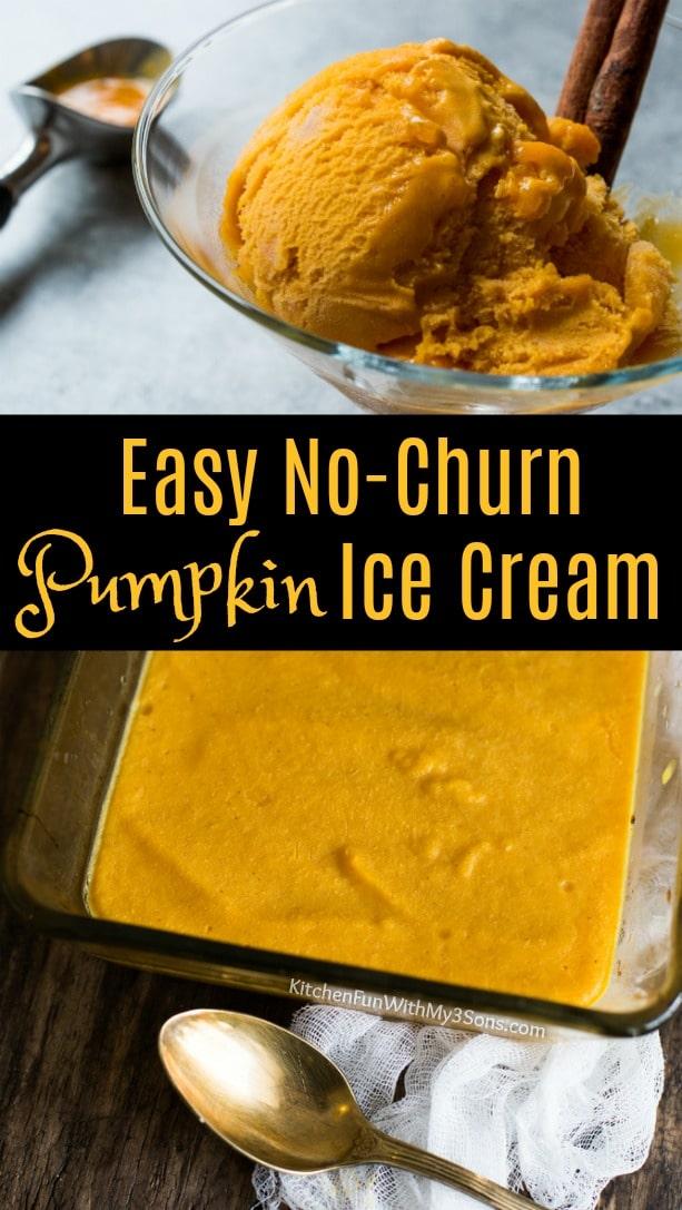 Easy Homemade No-Churn Pumpkin Ice Cream