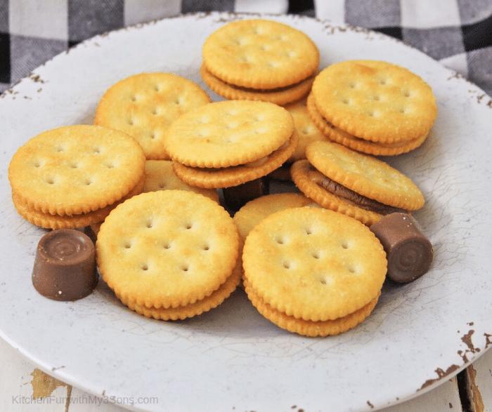 rolo stuffed ritz cracker candy
