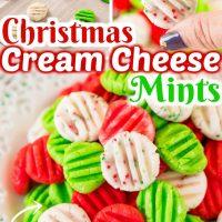Christmas Cream Cheese Mints