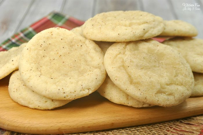 The Eggnog Cookies are the absolute best recipe. They're soft, chewy and full of cinnamon flavor.