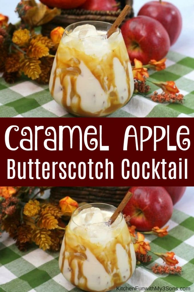 Caramel Apple Butterscotch Cocktail