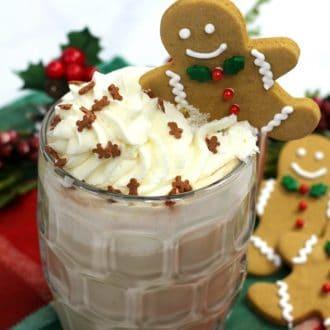 Crock pot latte with gingerbread flavor