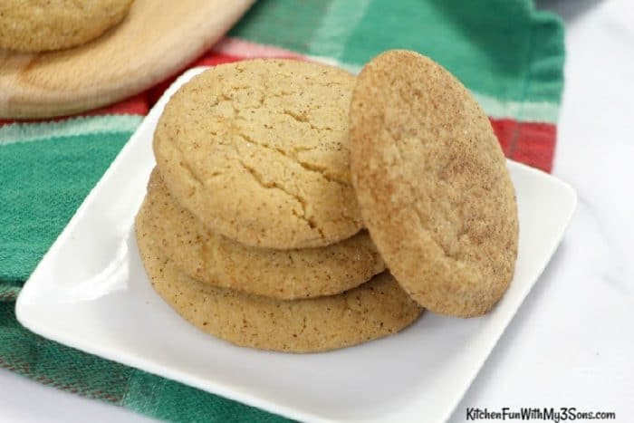 Single stack of maple snickerdoodle cookies