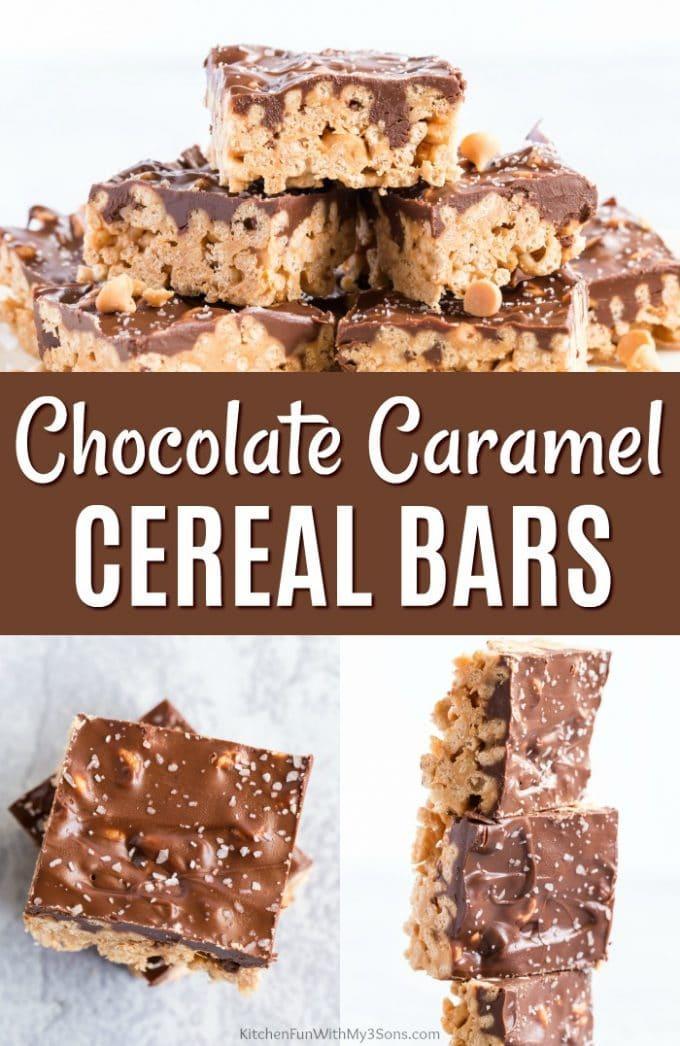 Chocolate Caramel Cereal Bars
