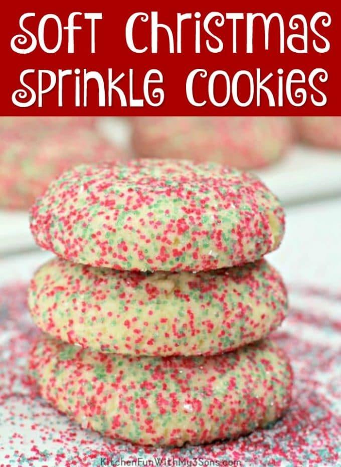Soft Christmas Sprinkle Cookies