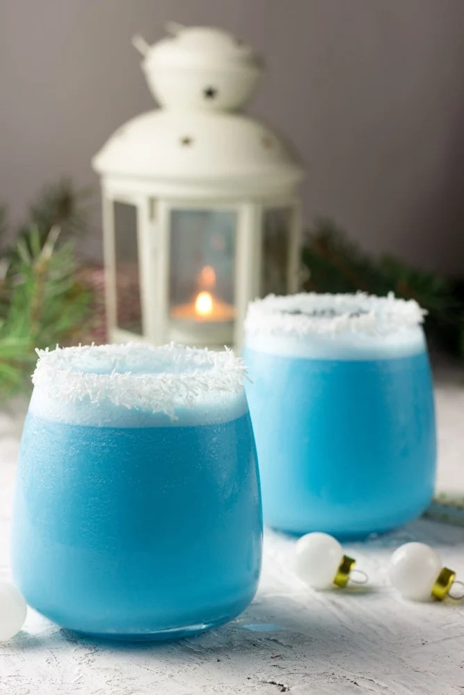 Blue Christmas Cocktails
