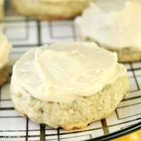 Soft Banana Bread Cookies with Cream Cheese Frosting