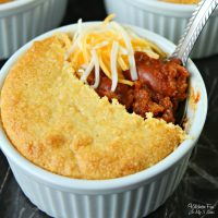 Chili Pot Pie with Cornbread Crust
