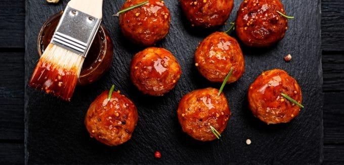 glazed chicken meatball recipe