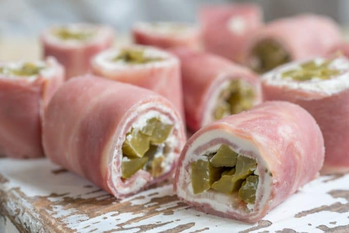 Ham Pickle Cream Cheese Roll Ups