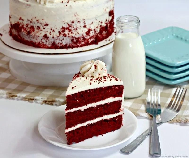 layered south red velvet cake