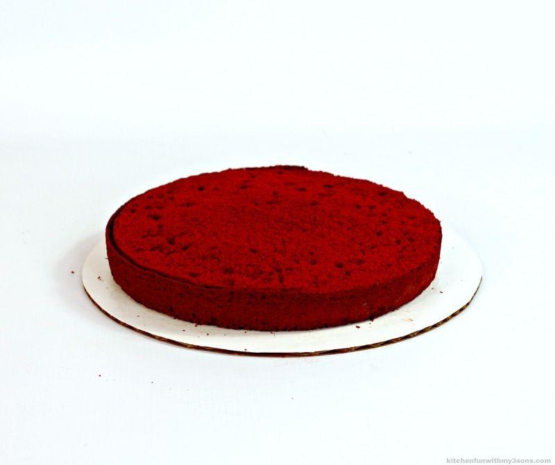 red velvet cake layer