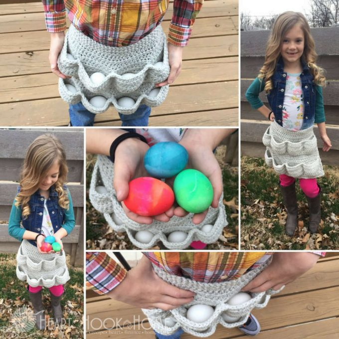 Chicken Egg Crochet Apron